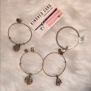 Bundle of five Alex and ani bracelets
